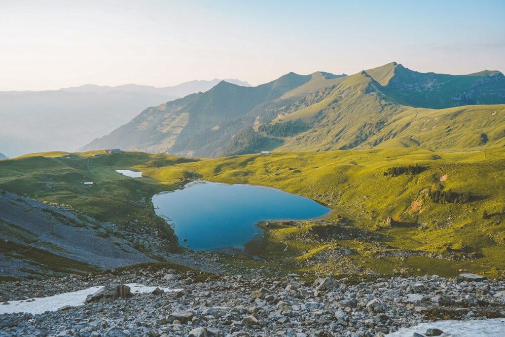 Seefeldsee im Älggi - geografischer Mittelpunkt Schweiz