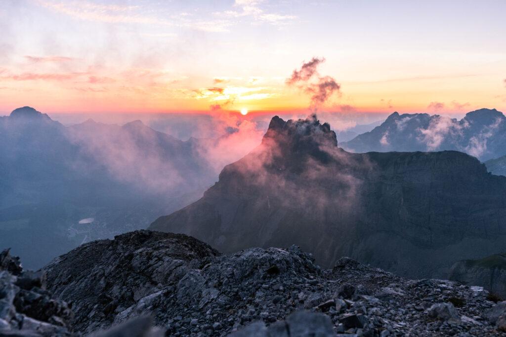 Sonnenuntergang Wissberg, Engelberg