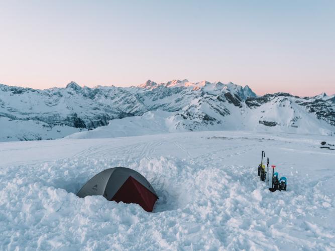 Camping Melchsee-Frutt in Winter