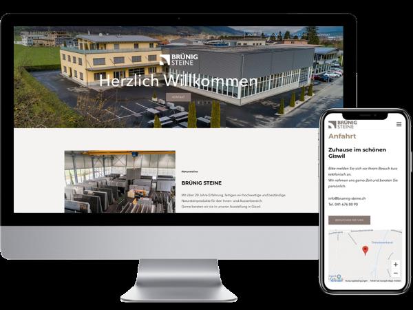 BruenigSteine Webdesign by Yanick Küchler
