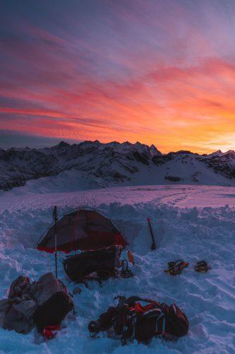 Sonnenuntergang Melchsee-Frutt Zelten Yanick Küchler